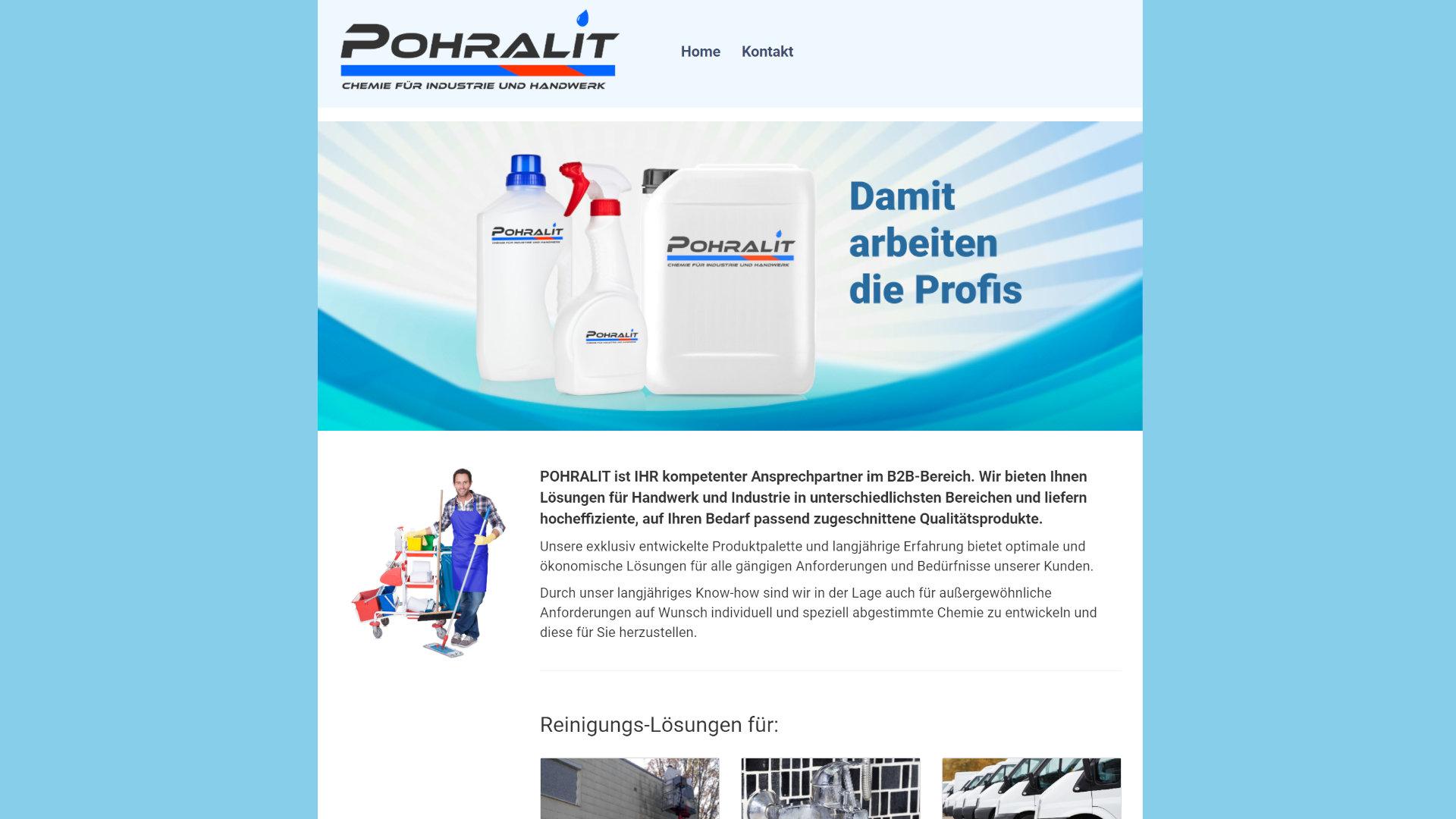Screenshot: Homepage Pohralit