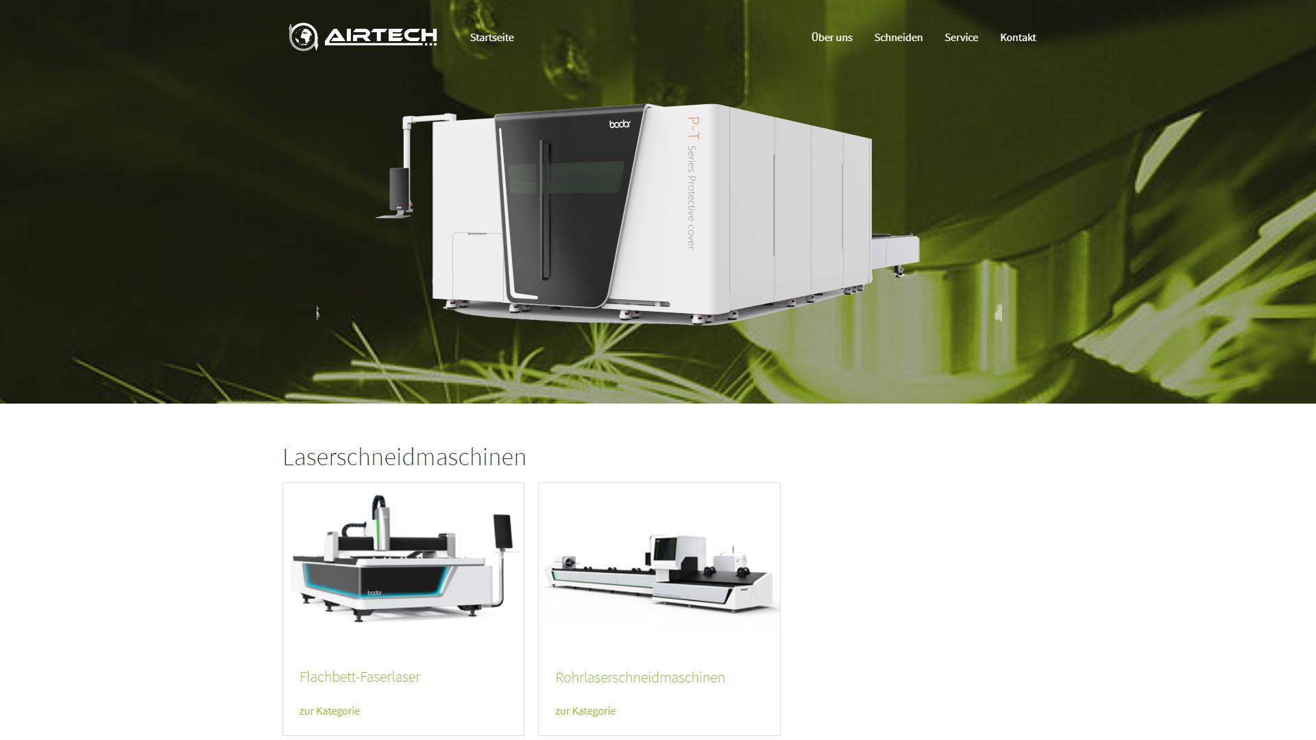 Screenshot: Homepage Airtech Laser