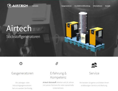Airtech Stickstoff GmbH – Typo3 – Multi-Website-System