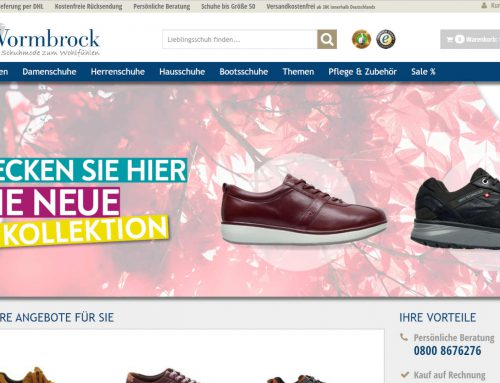Schuhhaus Vormbrock – 4Sellers Shop Landingpages / Flyer / Banner