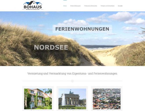 Bohaus Immobilien – WordPress Webseite / Logo