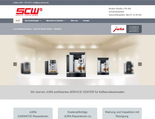 Jura Service Center Weber – WordPress Webseite