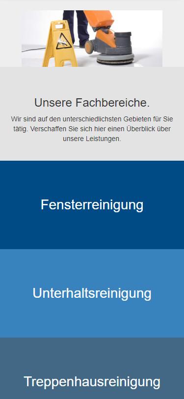 Screenshot Mobilansicht: Homepage Pohlenz Gebäudeservice