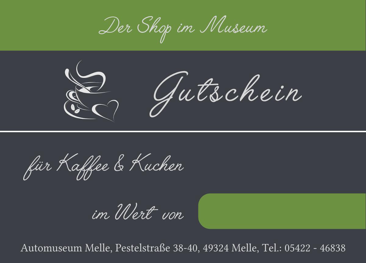 Gutschein: Der Shop im Automuseum Melle