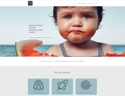 StartInFood – Startupberatung – WordPress Webseite