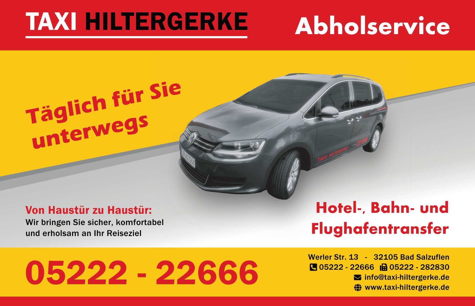 Werbeanzeige: Taxi Hiltergerke