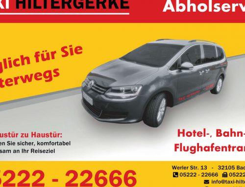 Taxi Hiltergerke – Printanzeige