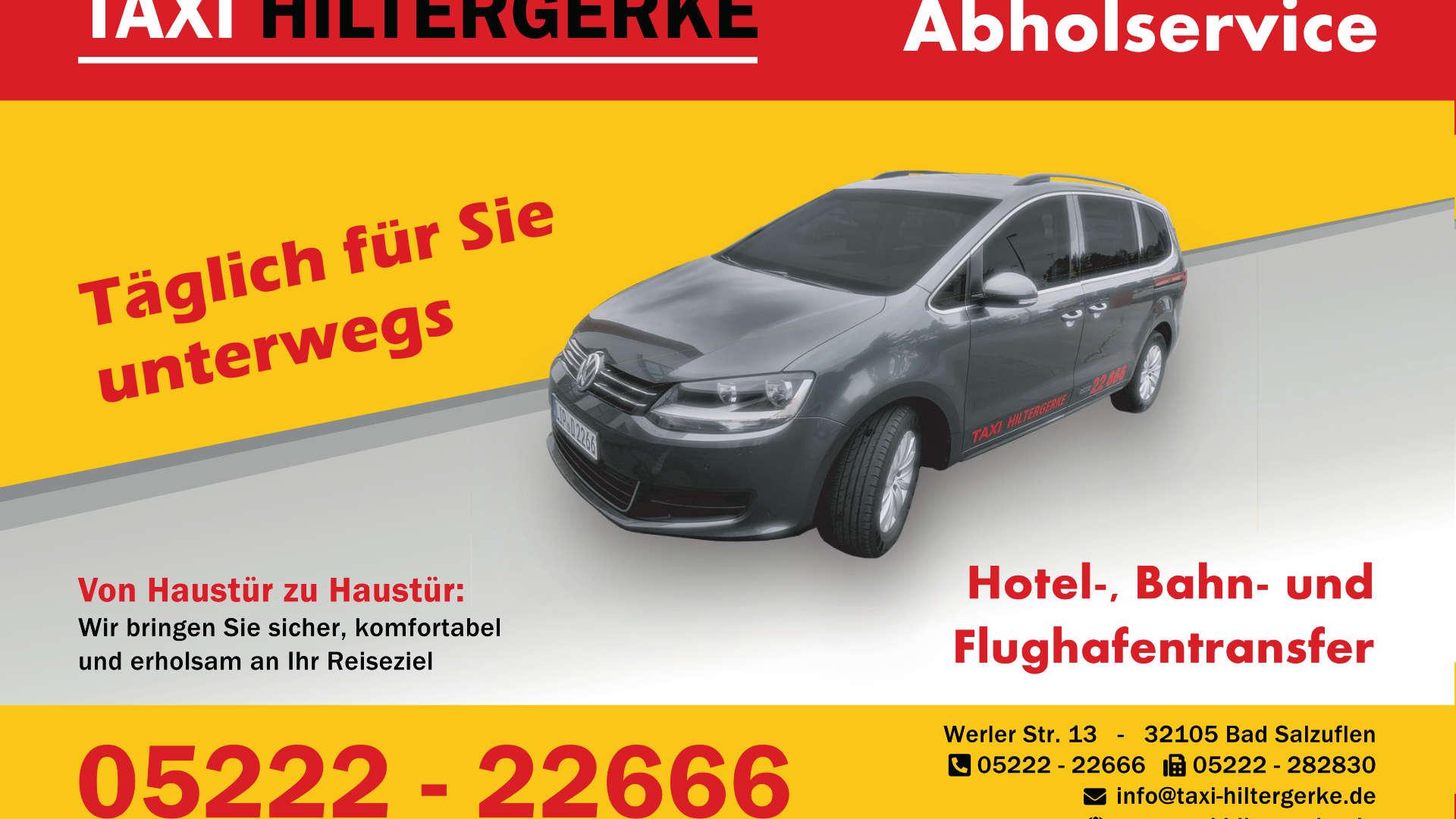 Thumbnail Werbeanzeige: Taxi Hiltergerke