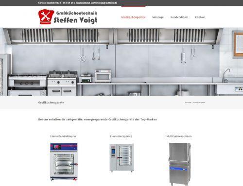 Großküchentechnik Voigt – WordPress Webseite / Logo