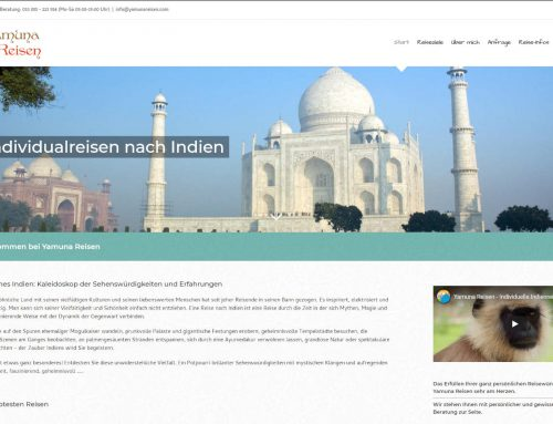 Yamuna Reisen – WordPress Webseite