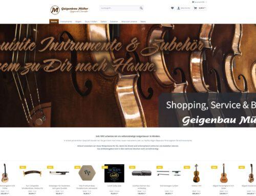 Geigenbau Müller – Shopware Shop