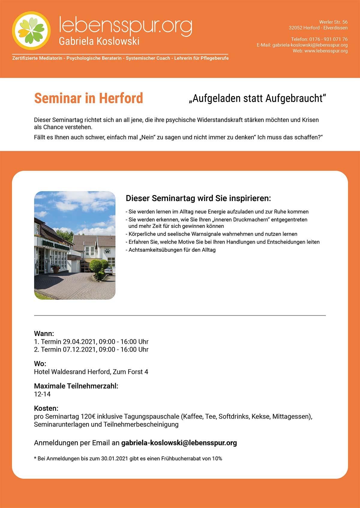 Flyer: Lebensspur.org