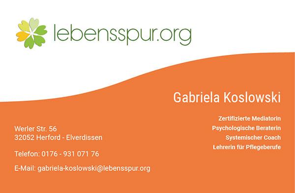 Visitenkarte: Lebensspur.org