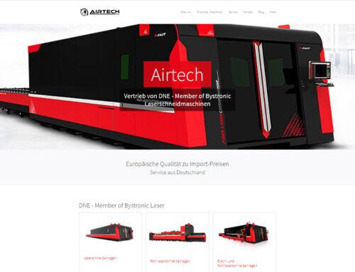 Airtech DNE Laser – Typo3 Webseite